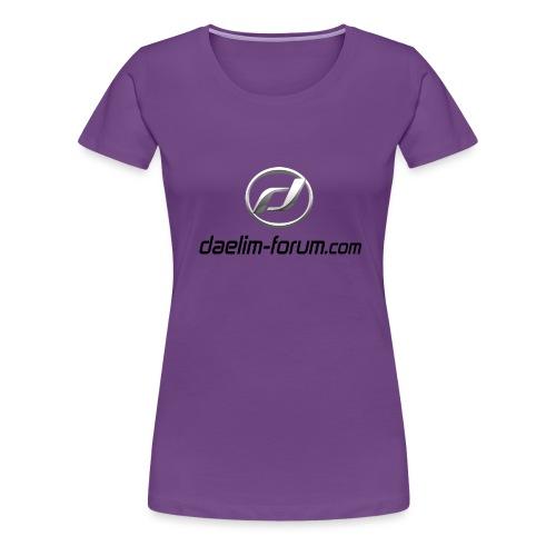 Daelim Logo mit Forum URL, schwarz T-Shirts - Frauen Premium T-Shirt