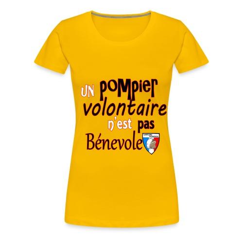 pompier volotaire - T-shirt Premium Femme