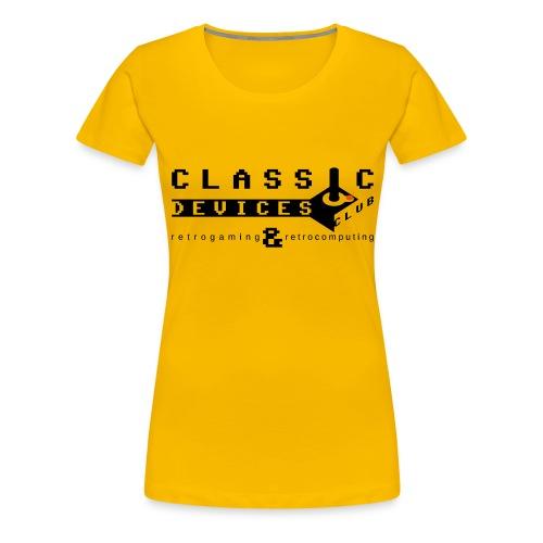 Classic Devices Club - Maglietta Premium da donna