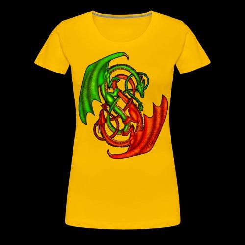 Entwined Dragons - Women's Premium T-Shirt