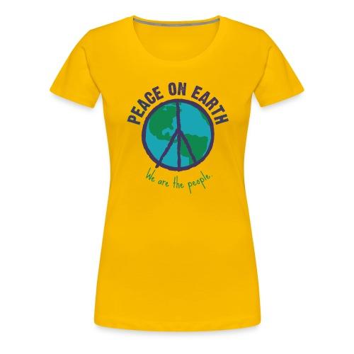 peace purple png - Frauen Premium T-Shirt