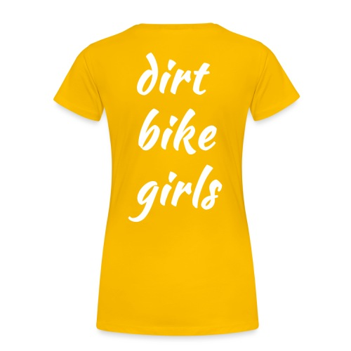 dirt bike girls - Premium T-skjorte for kvinner