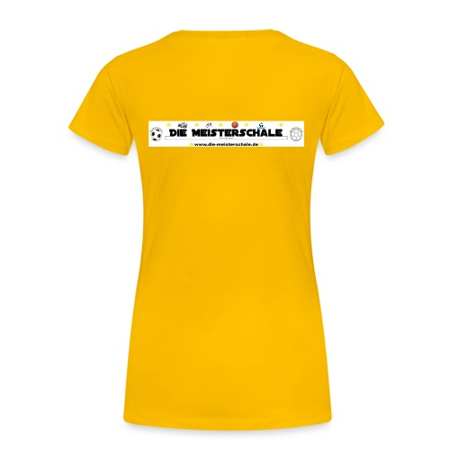 Die Meisterschale Logo Banner Werbung jpg - Frauen Premium T-Shirt