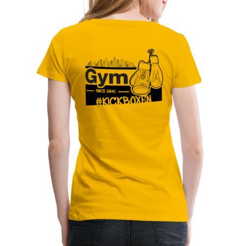 Gym in Druckfarbe schwarz - Frauen Premium T-Shirt