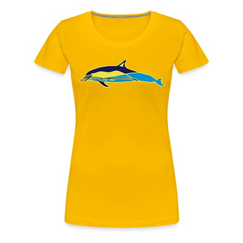common dolfin dreifarbig 01 - Frauen Premium T-Shirt