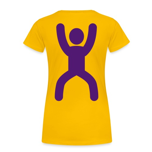 happy stretching woman - Women's Premium T-Shirt