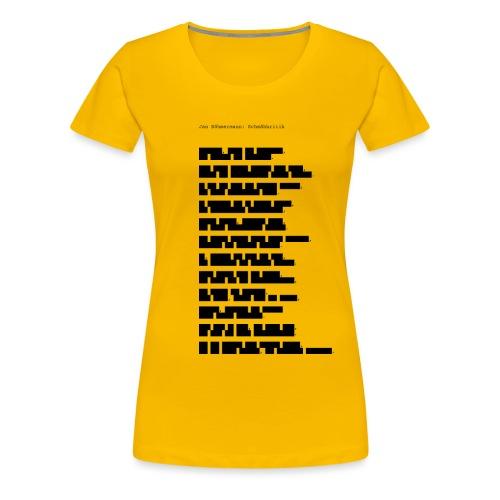 Zensur-Shirt | Jan Böhmermann: Schmähkritik - Frauen Premium T-Shirt