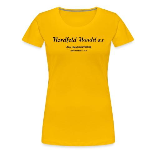 NH Logo horisontal - Premium T-skjorte for kvinner