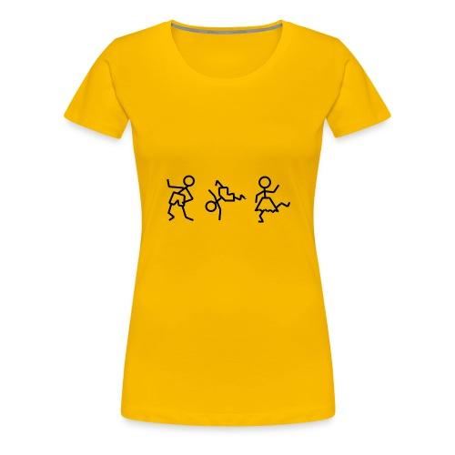 tanzende_maennchen - Frauen Premium T-Shirt