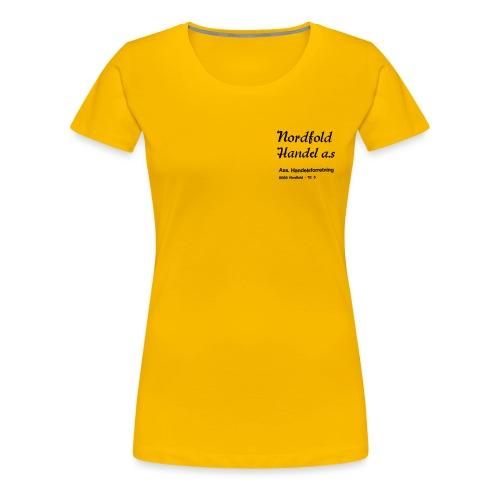 NH Logo vertikal - Premium T-skjorte for kvinner