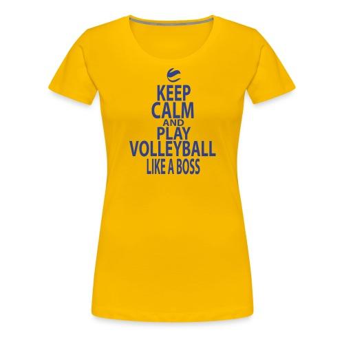KEEP CALM AND PLAY LIKE A BOSS png - Frauen Premium T-Shirt