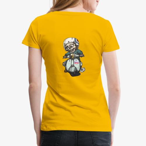 Skullterist - Solo Big Print - Frauen Premium T-Shirt