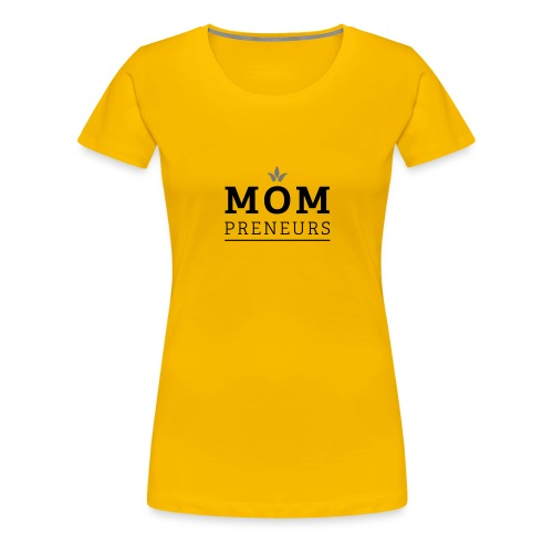 mompreneurs_logo_final - Frauen Premium T-Shirt