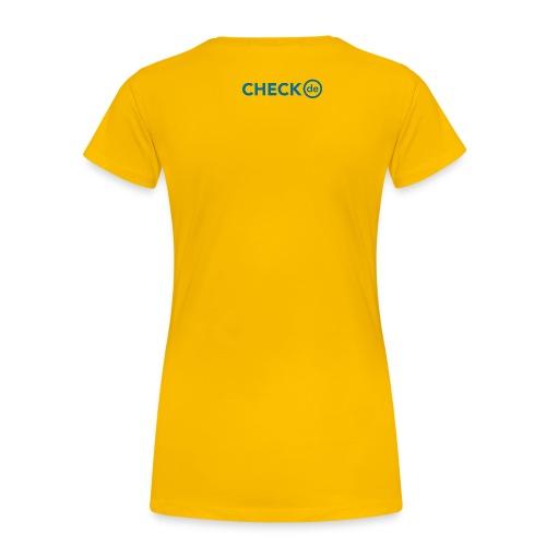 checkde Logo petrol Outline RGB png - Frauen Premium T-Shirt