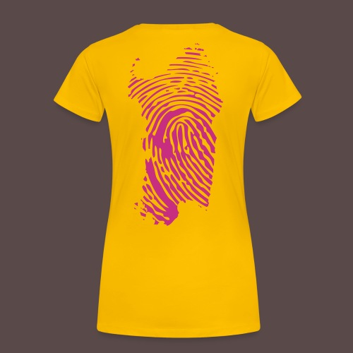 Sardegna Impronta Digitale - Maglietta Premium da donna