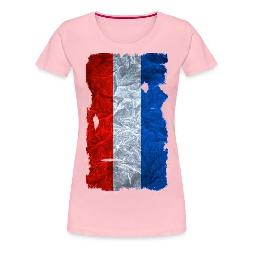 Schleswig-Holstein Fahne / Flagge vintage usedlook - Frauen Premium T-Shirt