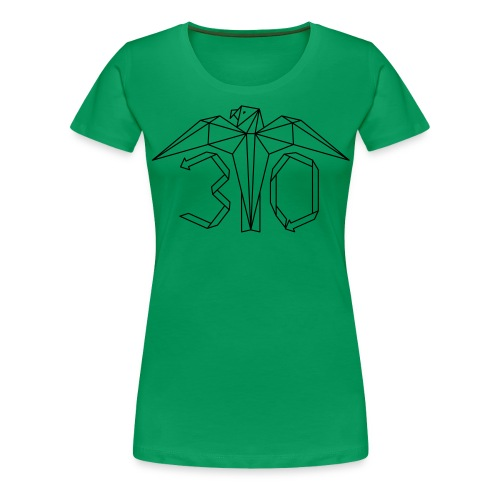 Juhlavuoden logo - Naisten premium t-paita