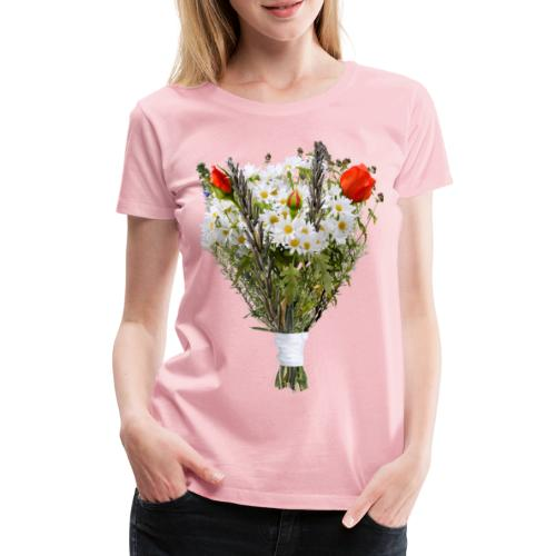 a bouquet of flowers - Women's Premium T-Shirt