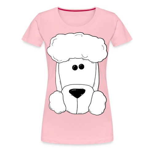 Pudel groß - Schriftzug vorne - Herren - Frauen Premium T-Shirt