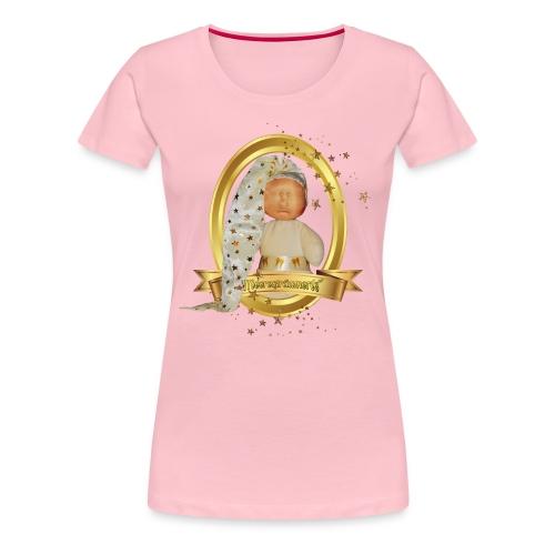 Meeresträumerle gold im ovalen Rahmen - Frauen Premium T-Shirt