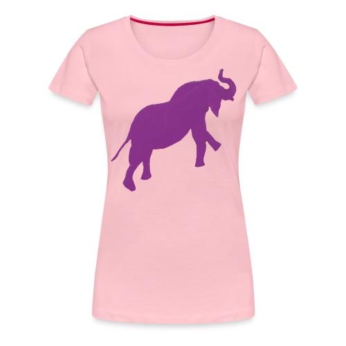 elephant violet.gif - T-shirt Premium Femme