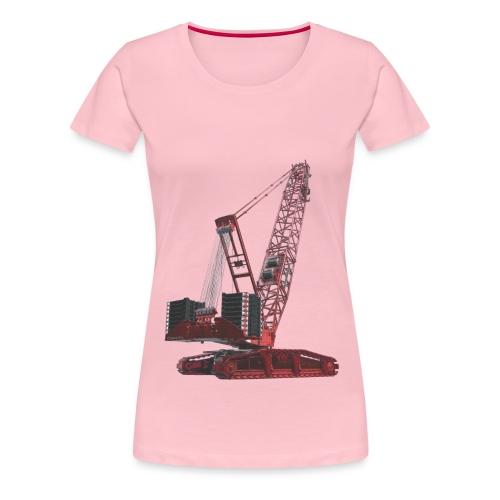 Crawler Crane 750t - Red - Women's Premium T-Shirt