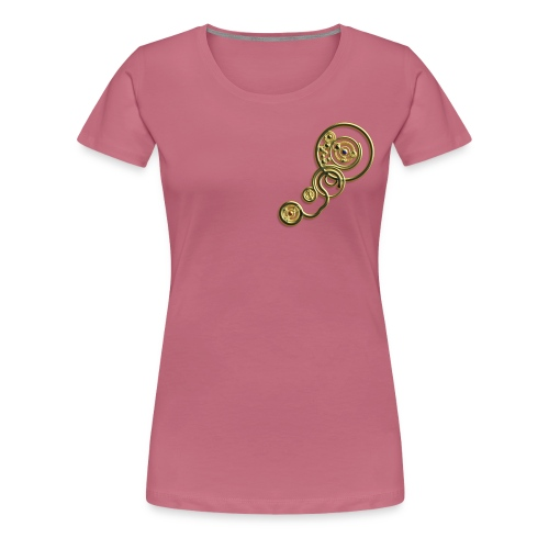 clockwork heart design image gold - Women's Premium T-Shirt