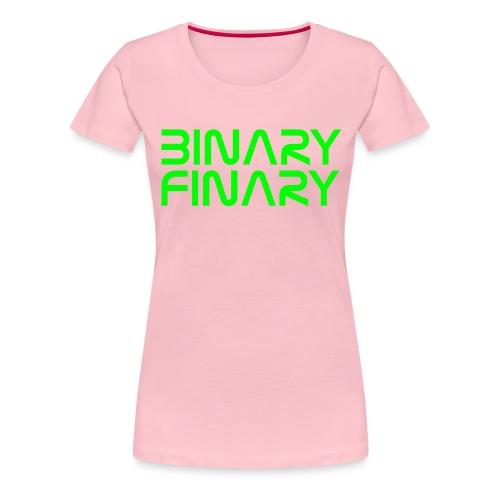 binaryfinary logov03 - Women's Premium T-Shirt