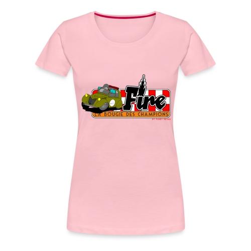 2cv FIRE - T-shirt Premium Femme