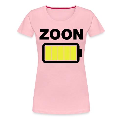 Batterij zoon vol - Vrouwen Premium T-shirt