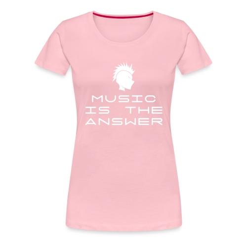 Mohawk Logo - Music is the Answer - Women's Premium T-Shirt