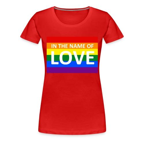 IN THE NAME OF LOVE RETRO T-SHIRT - Dame premium T-shirt