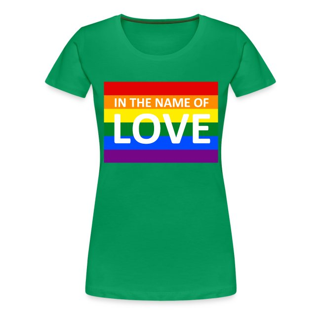 IN THE NAME OF LOVE RETRO T-SHIRT