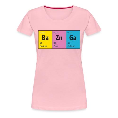 Periodensystem BaZnGa Nerd Geek Big Bang Urknall - Women's Premium T-Shirt