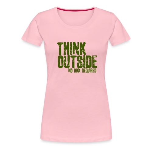 THINK OUTSIDE - Vrouwen Premium T-shirt