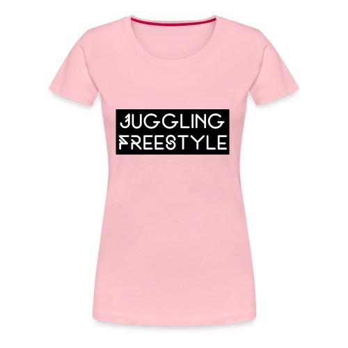 Hoodie Black Juggling Freestyle (Woman) - Frauen Premium T-Shirt