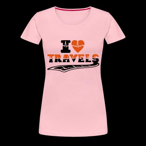 i love travels surprises 2 col - Women's Premium T-Shirt