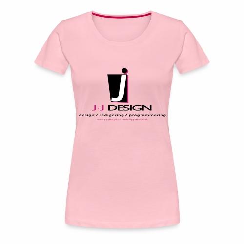 LOGO_J-J_DESIGN_FULL_for_ - Dame premium T-shirt
