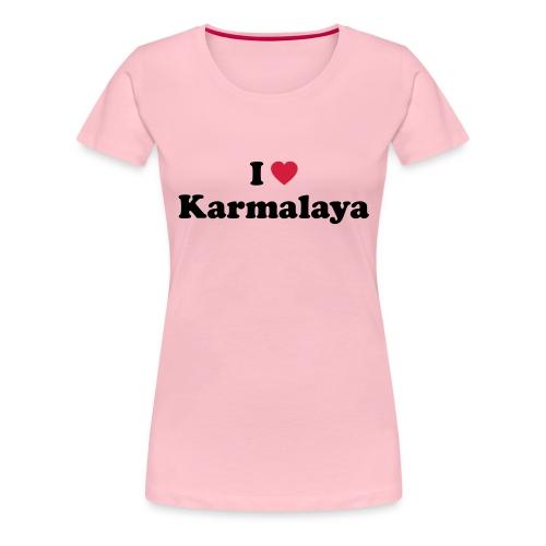 ilovekarmalaya a - Frauen Premium T-Shirt