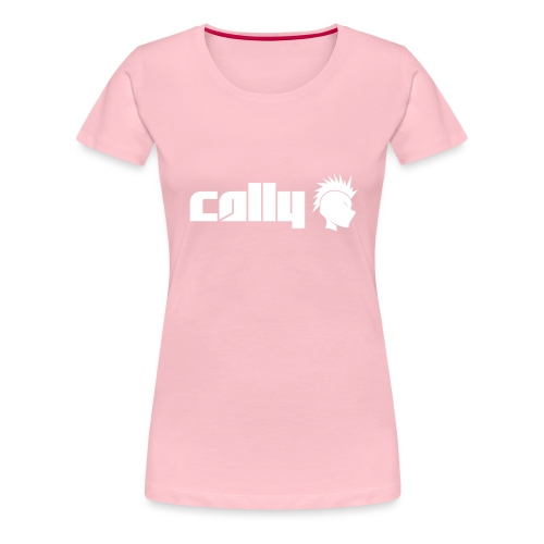 Cally White Logo - Women's Premium T-Shirt