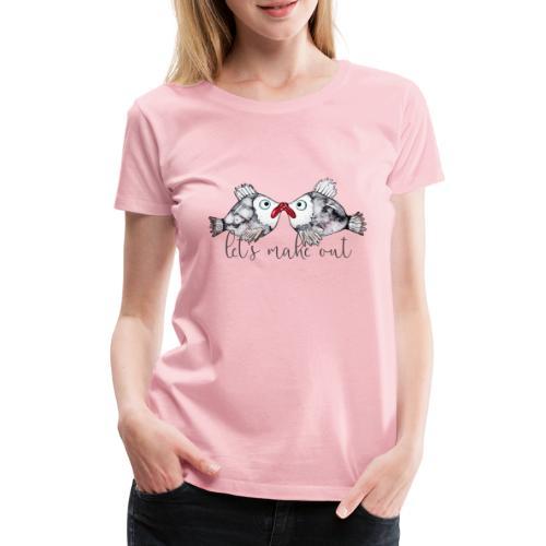vis zoenen liefde - Vrouwen Premium T-shirt