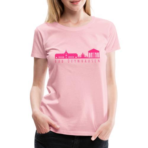 Silhouette der besten Kurstadt - Frauen Premium T-Shirt