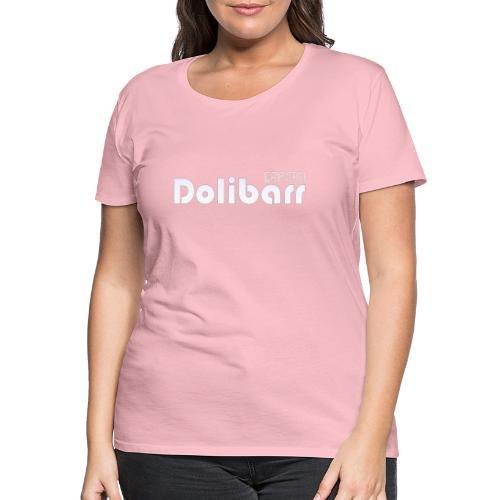 Dolibarr logo blanco - Camiseta premium mujer