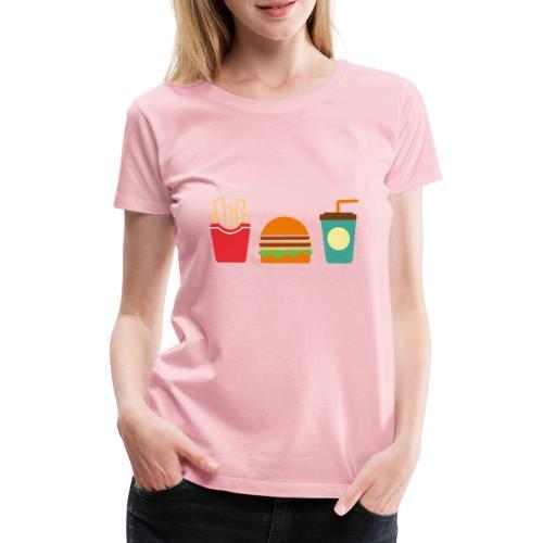 Fast Food - Maglietta Premium da donna
