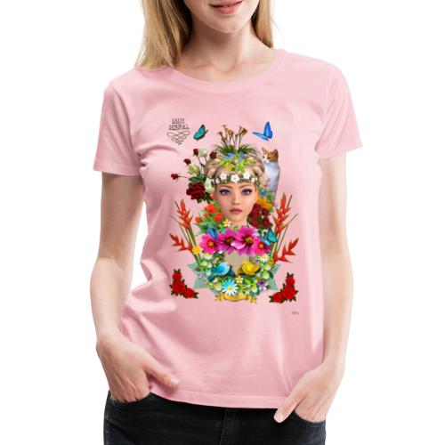 Lady spring -by- t-shirt chic et choc - T-shirt Premium Femme