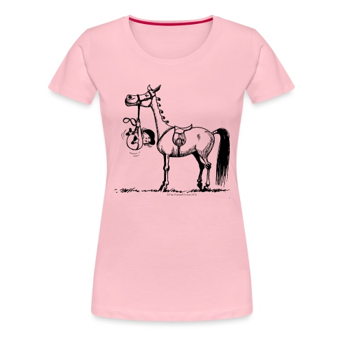 Thelwell Cartoon Stures Pony - Frauen Premium T-Shirt