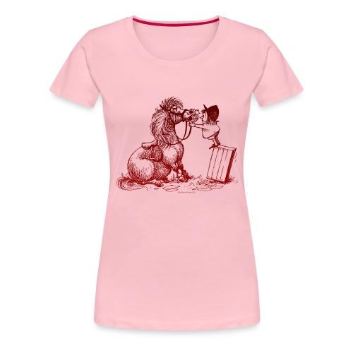 Thelwell Cartoon Pony bei der Zahnkontrolle - Frauen Premium T-Shirt
