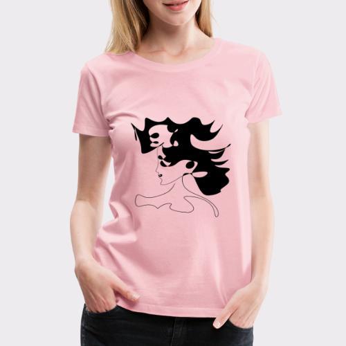 LINEART ALLES WIRD GUT FRAU ILLUSTRATION Line Art - Frauen Premium T-Shirt