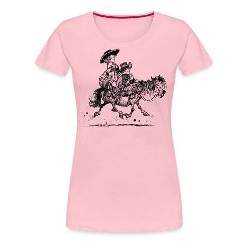Thelwell Two Cowboys Reiten - Frauen Premium T-Shirt