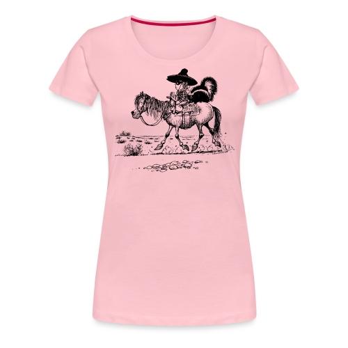 Thelwell Cowboy mit einem Stinktier - Frauen Premium T-Shirt